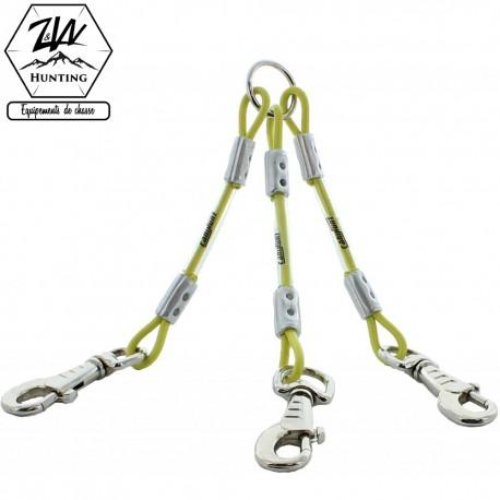 Accouple câble 3 chiens - Canihunt XTREME