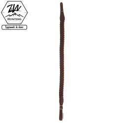 Bretelle pour carabine en cuir vieilli tressé