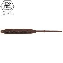 Cartouchière fusil cal.12 à rabats en cuir vieilli