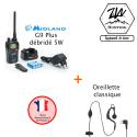 Pack G9 Plus 5W et Oreillette classique - Midland
